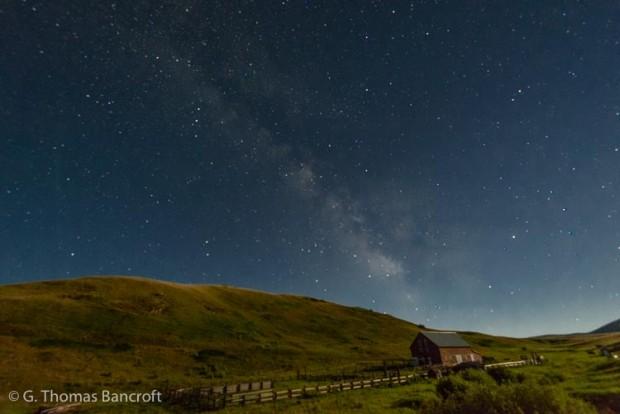 The Milky Way over Zumwalt Prairie in Oregon.