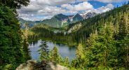 The view onto Watson Lakes in the Noisy-Diobsud Wilderness in the North Cascades.